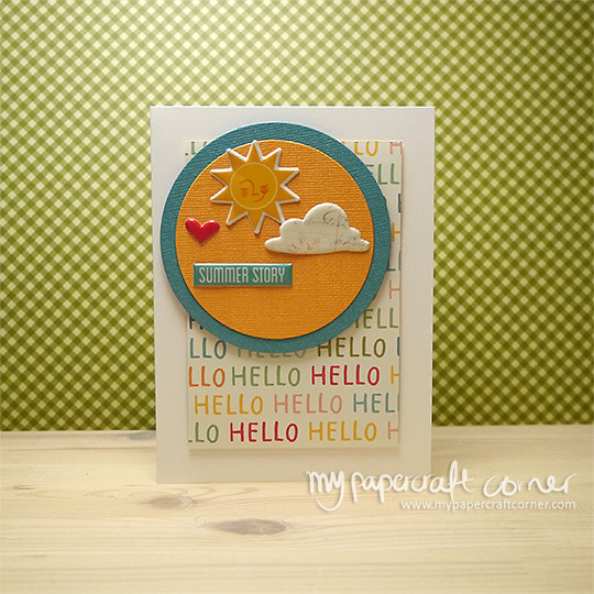 Hello - Summer card - Card #450