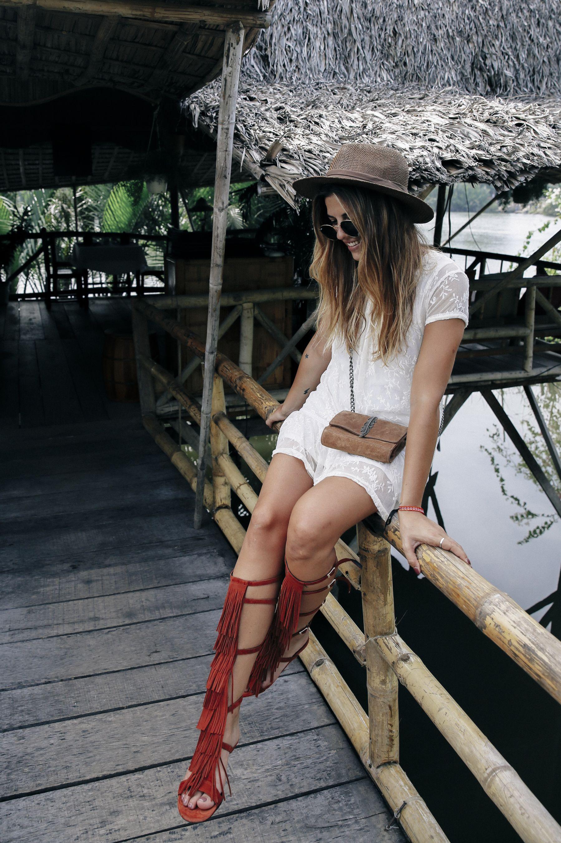 outfit look primavera spring street style trendy taste verano summer vestido dress sandalias  sandals gafas sunglasses_21