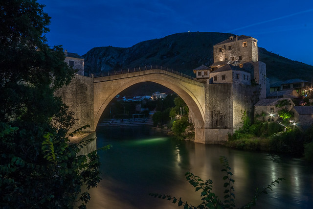 Stari Most Bridge, Mostar - at night