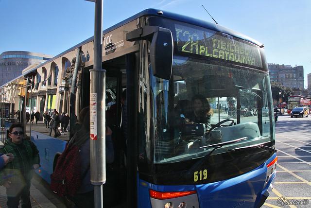Autobus. Barcelona. Spain