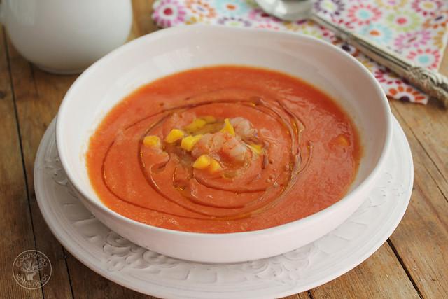 Sopa fria de mango y tomate (3)