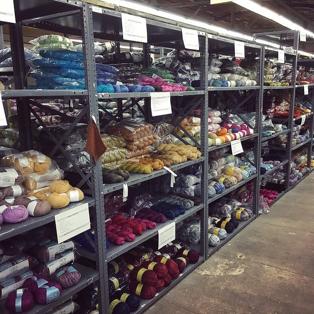 Just some light yarn shopping.