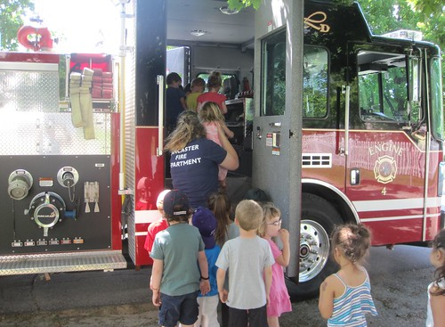 exploring the fire truck