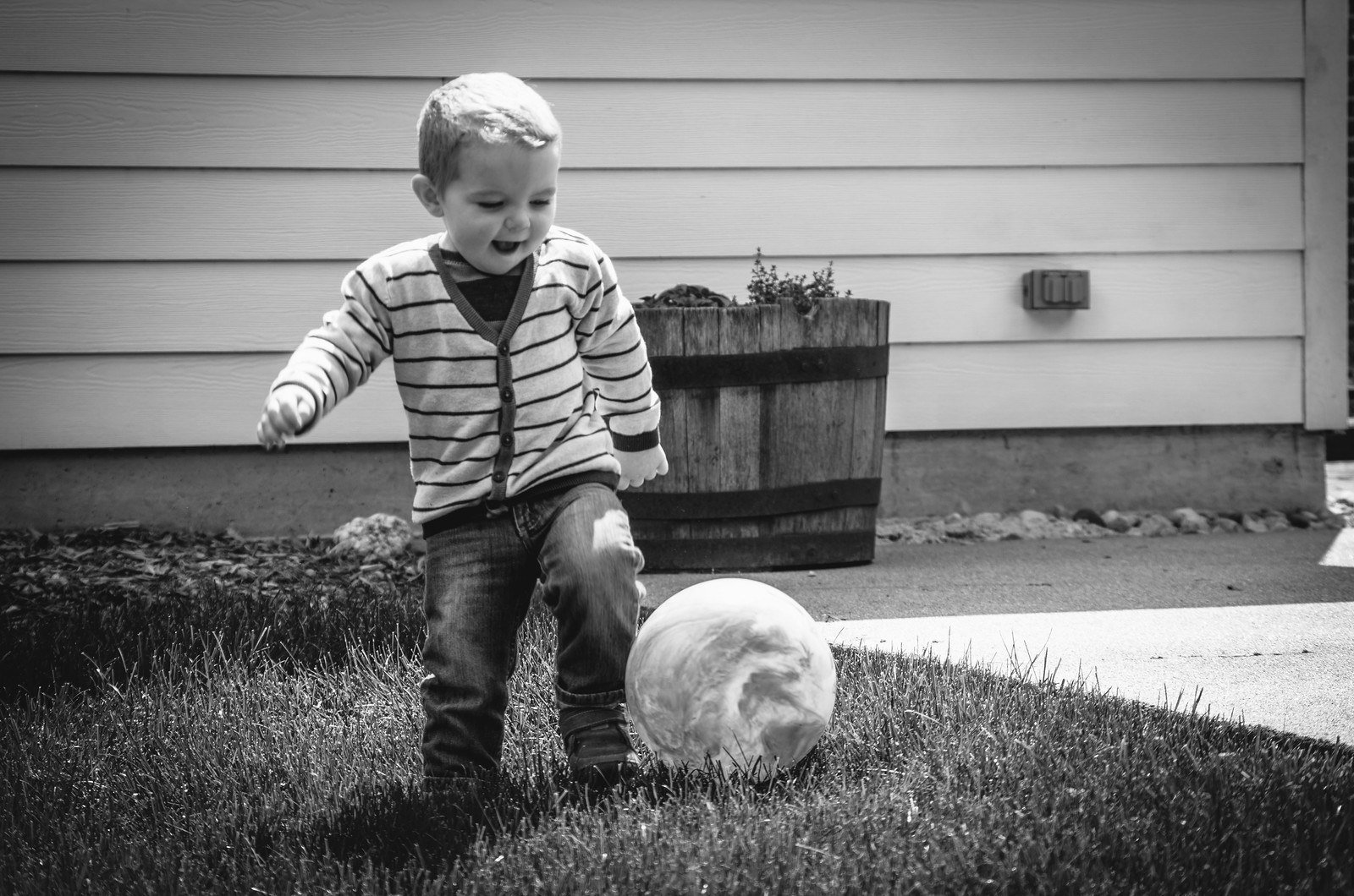 Ezra and the ball