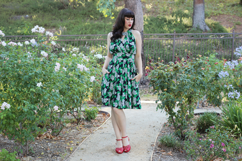 Trashy Diva Goldie Dress in Crepe Myrtle Print