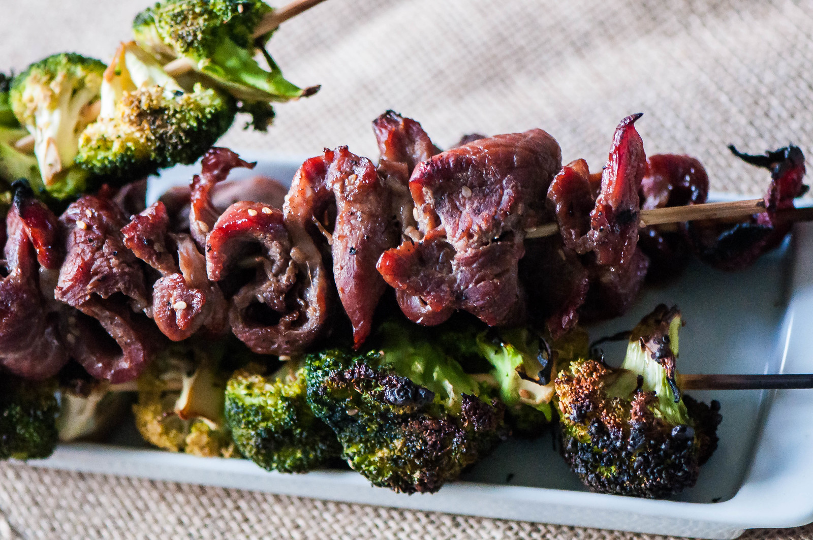 Grilled Beef and Broccoli Skewers 2