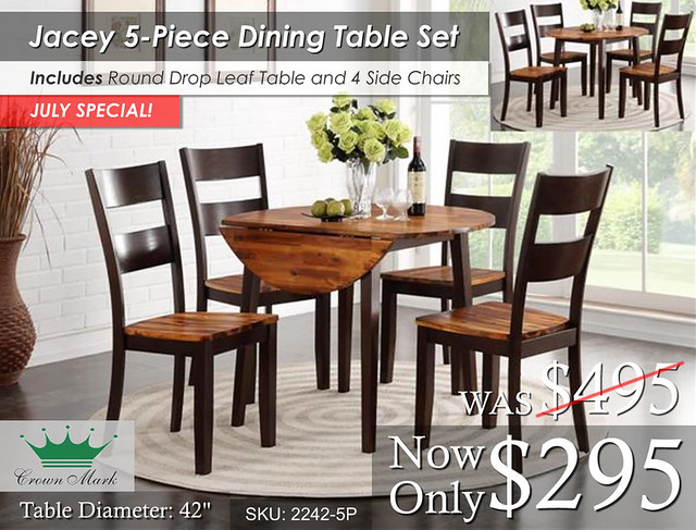 Crown Mark Jacey 5P Dining Set