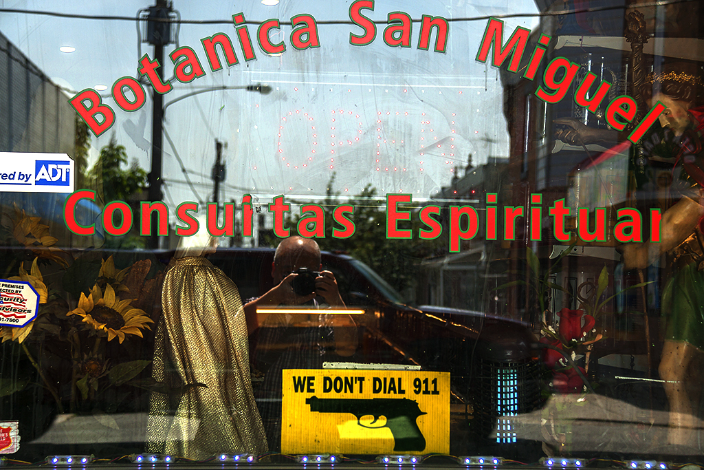 WE DON'T DIAL 911 sign at Botanica San Miguel--Kensington