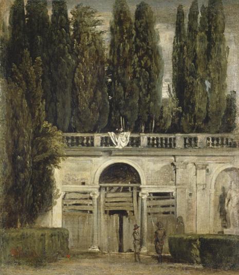 16g04 Velázquez Vista del jardín de la Villa Medici en Roma. Hacia 1630. Óleo sobre lienzo, 48,5 x 43 cm Uti 465