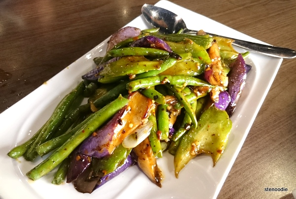 Stir Fried Eggplant, Bitter Melon, and Green Beans