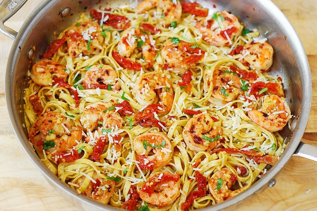 Recipes with cooked shrimp and pasta