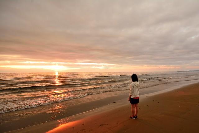 千里浜なぎさドライブウェイ_日本海_夕陽
