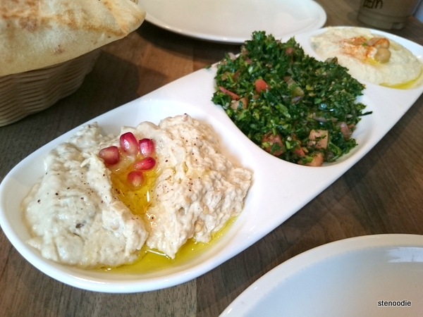 Hummus, Tabbouleh, Moutabbal