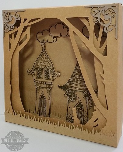 """Fairy Village"" Shadow Box"