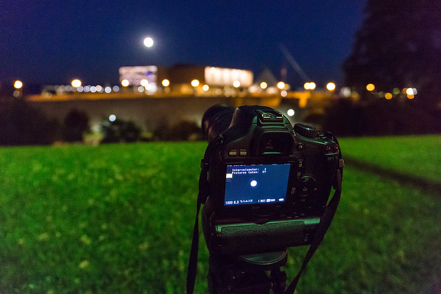 Shooting Solstice Moon Timelapse
