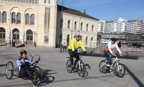 Sykle til jobben 2014 | F.v. Idrettsutøver og deltager i Ing ...