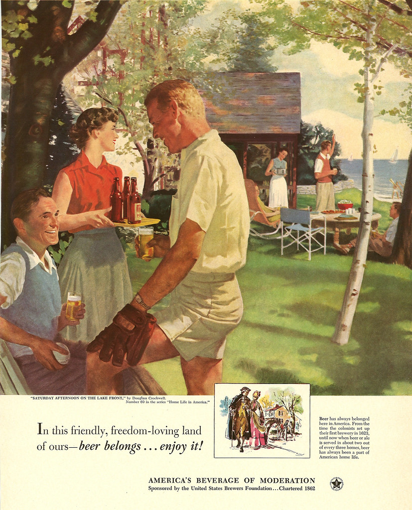 069. Saturday on the Lake Front by Douglass Crockwell, 1952