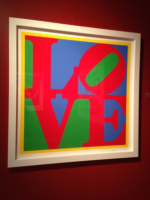Robert Indiana, Heliotherapy Love, 1995, Hunter Museum of Art, Chattanooga TN