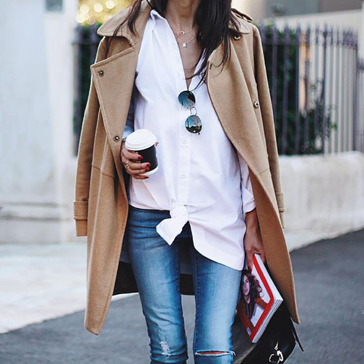 knotted shirt inspiration street style fashion outfit8