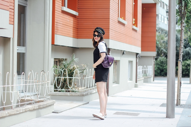 black pinafore dress dorothy perkins superga rose gold leztin street myblueberrynightsblog