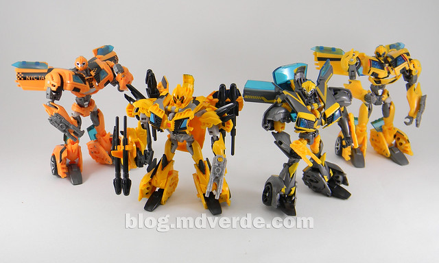 Transformers Bumblebee Deluxe - TF Prime Beast Hunters - modo robot vs otros Bumblebbe