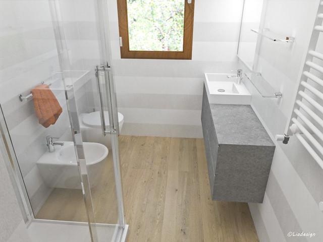 Bagno Stretto E Lungo Con Lavatrice: Ristrutturare bagno lungo stretto un e.