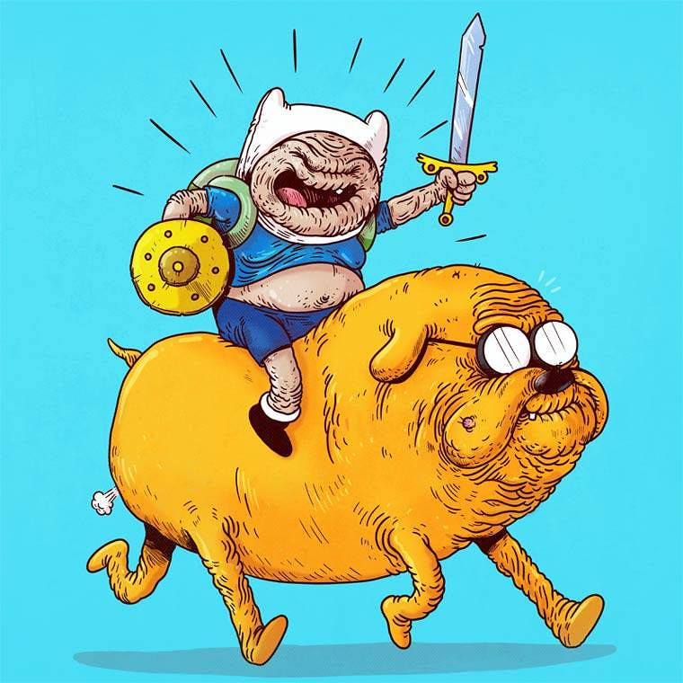Famous Oldies by Alex Solis - Adventure Time - Finn and Jake