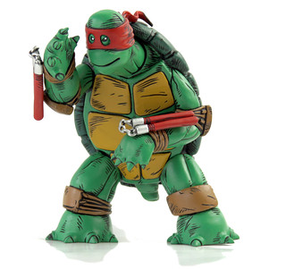 MONDO; Nickelodeon TEENAGE MUTANT NINJA TURTLES ; THE FIRST TURTLE (RED MASK EDITION) (( 2016 )) [[ Courtesy of MONDO ]]