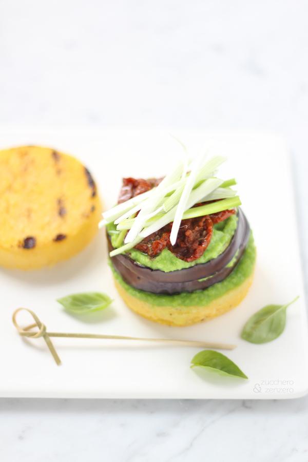 Hamburger di melanzane e polenta [vegano e gluten free]