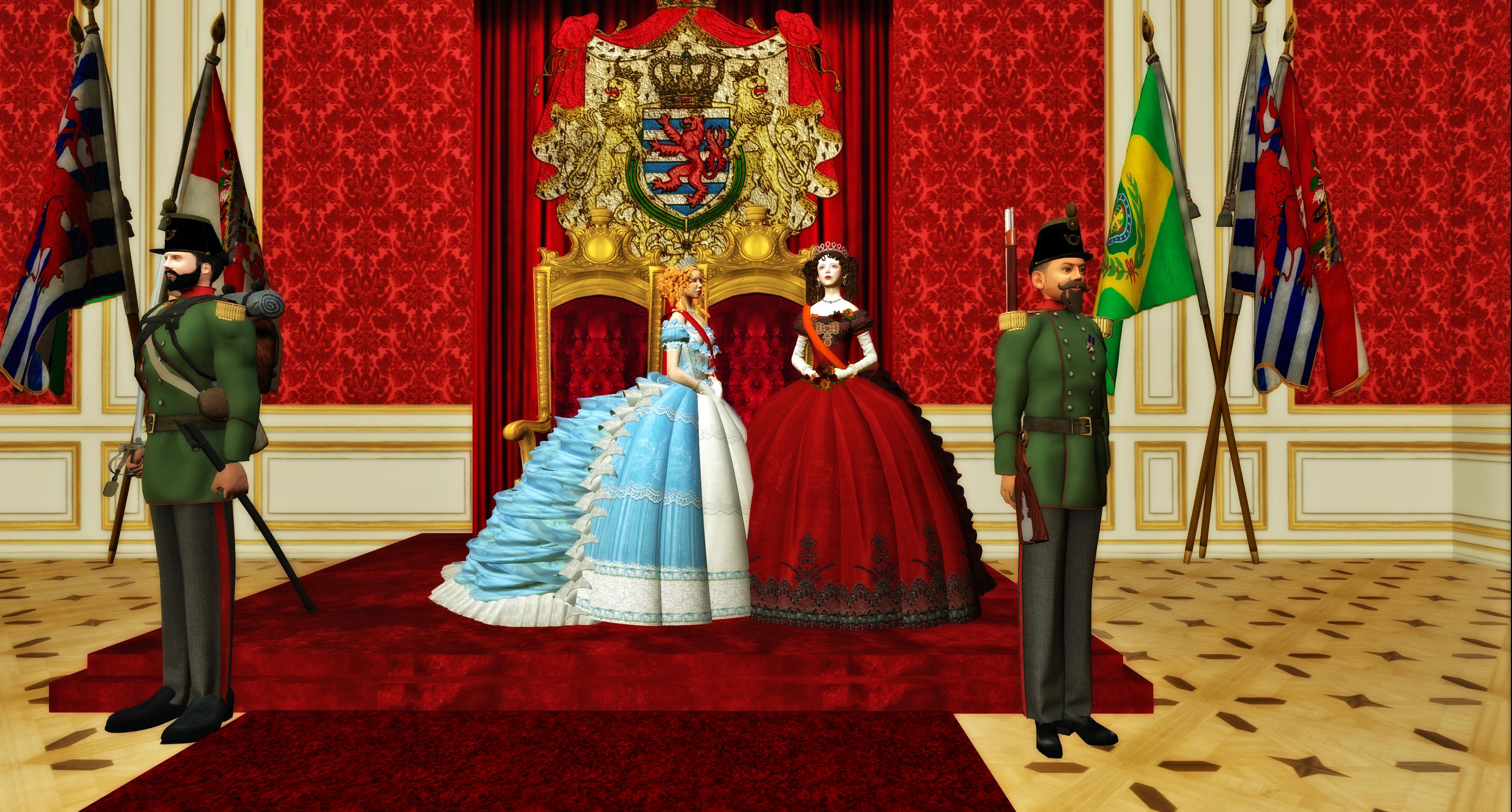 Son Altesse Sérenissime Victoire I de Brandebourg Bayreut, Her Serene Highness Victore-Albertine de Lyan und Sa Majeste Sophie de Wurtemberg, Angélique de Fontanges