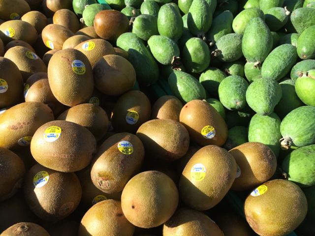kiwi fruits & feijoa