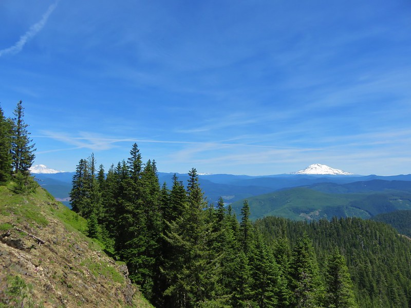 Mt. Rainier, Goat Rocks, and Mt. Adams