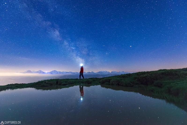 Posing at night - Niederhorn