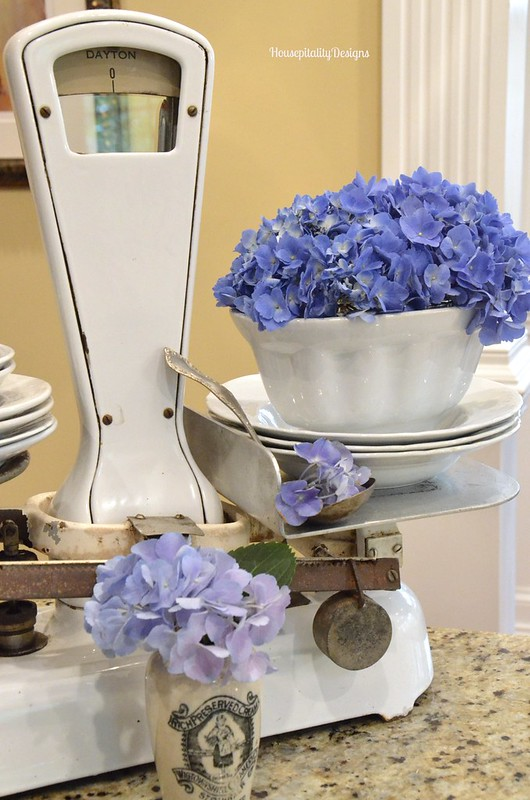 Vintage Scale/Hydrangeas - Housepitality Designs