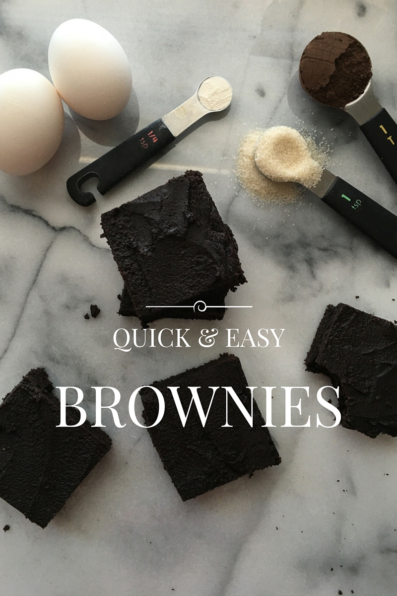 Simple Frosted Cocoa Brownies | Kitchen in the Hills | These simple cocoa brownies are a snap to make! They come together in under an hour, with 10 ingredients you probably already have. They're fudgy with rich chocolate flavor. #kitcheninthehills #brownies