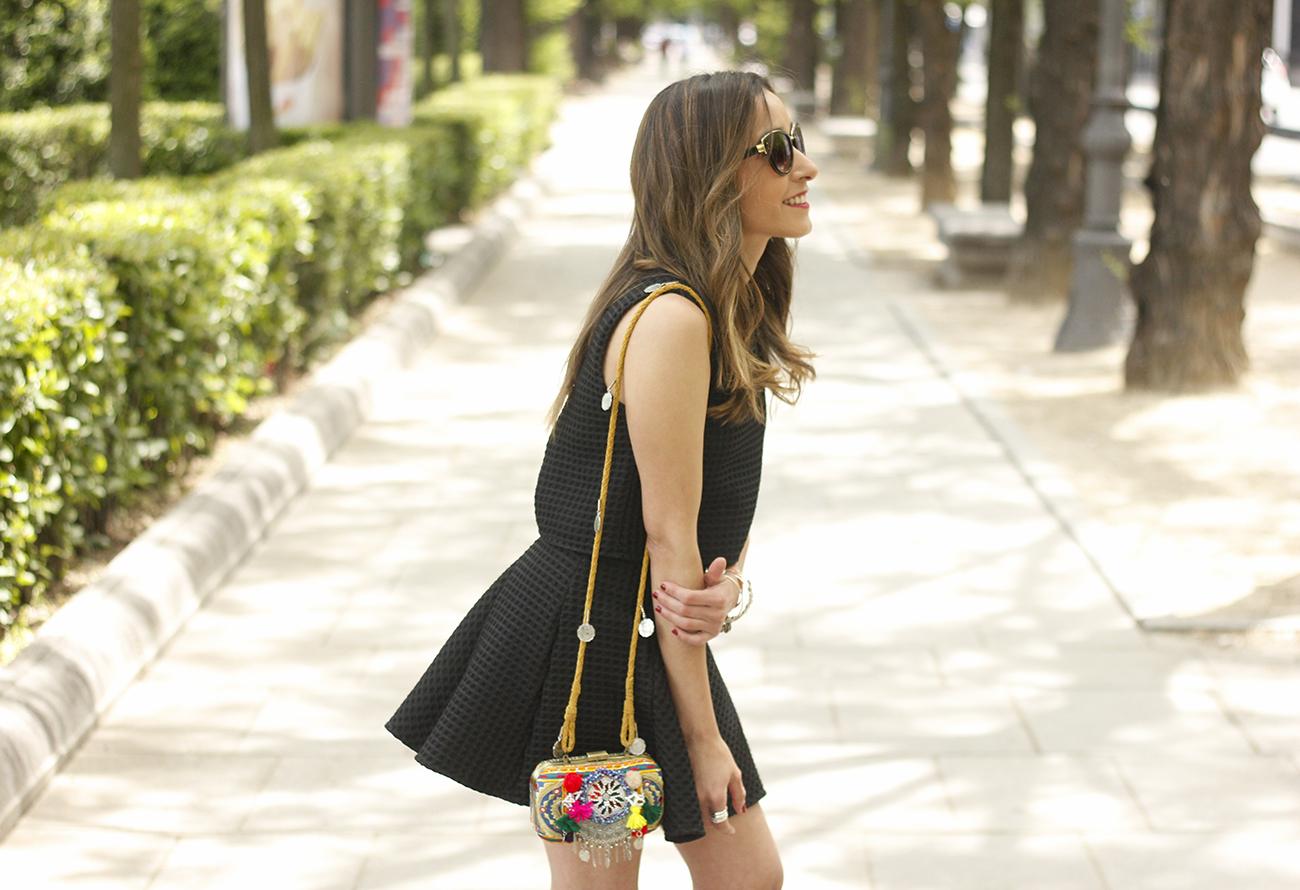 Little black dress maje carolina herrera sandals bag outfit fashion style summer sunnies13