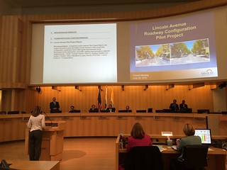 Candidate Dev Davis speaking in favor of the Road Diet, to San Jose Mayor and City Council 28 June 2016