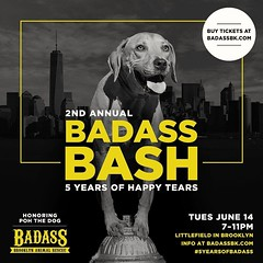 6/14 TONITE - The Bad Ass Brooklyn 5 yr anniversary / Honoring Poh the dog