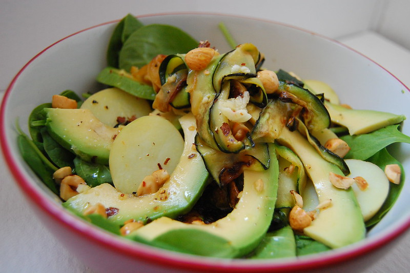Warm green salad