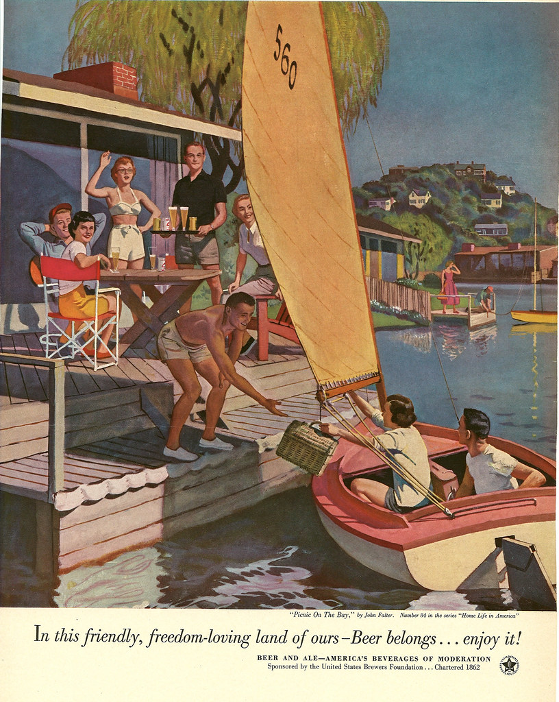 084. Picnic on the Bay by John Falter, 1953