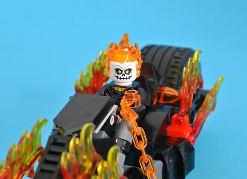 Ghost Rider Johnny Blaze New Marvel Hero Lego Moc Minifigure Gift For Kids