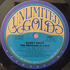 BARRY WHITE:THE MESSAGE IS LOVE(LABEL SIDE-A)
