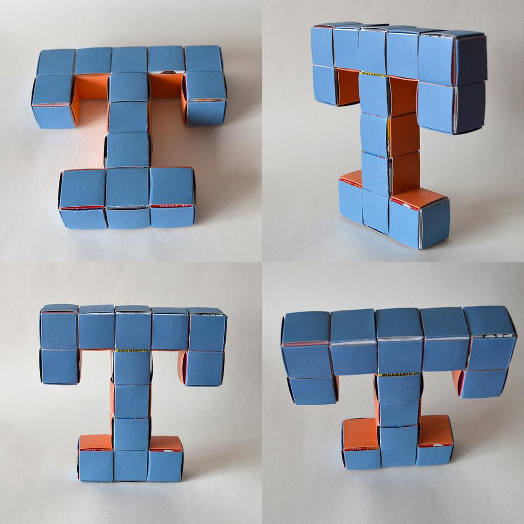 211-letra T com módulo business card menger sponge