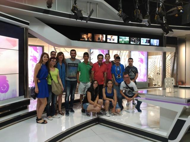 Visita participantes Área Laboral de RTVCM (5 de julio de 2016)