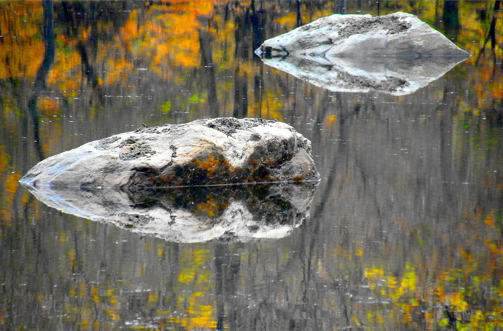 2 Rocks and Their Reflection