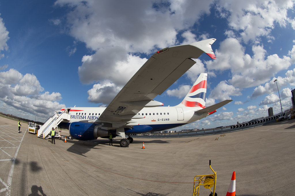 British Airways A318 in London City Airport