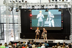 Panel mit zwei Klingonendarstellern