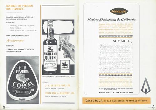 Banquete, Nº 109, Março 1969 - 2