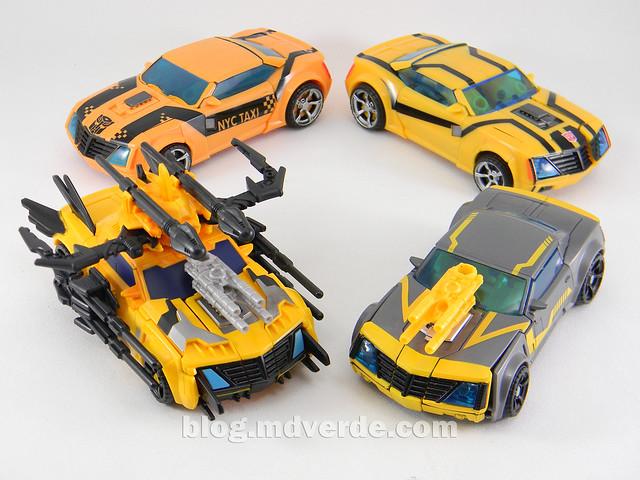 Transformers Bumblebee Deluxe - TF Prime Beast Hunters - modo alterno vs otros Bumblebee