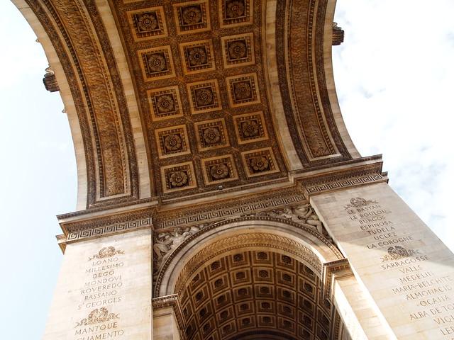 P5281800 エトワール凱旋門(アルク・ドゥ・トリヨーンフ・ドゥ・レトワール/Arc de triomphe de l'Étoile) パリ フランス paris france